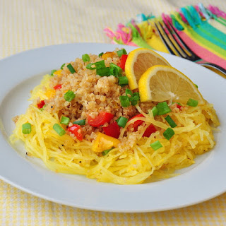 Warm Roasted Spaghetti Squash and Quinoa Salad