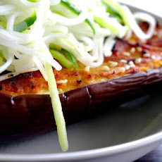 Miso Aubergine With Cucumber Noodles