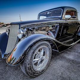 Black Sedan by Ron Meyers - Transportation Automobiles