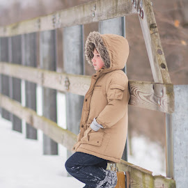 My handsome son by Marissa Frederick - Babies & Children Child Portraits ( child, son, bridge, kids, photography )