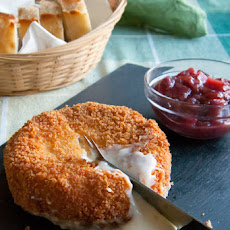 Deep-Fried Brie with Cranberry-Apple Chutney