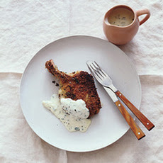 Breaded Pork Chops with Sage Cream Gravy