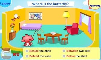 Screenshot of Kids Grammar Prepositions 1