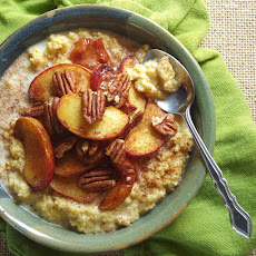 Roasted Peaches and Creamy Breakfast Polenta