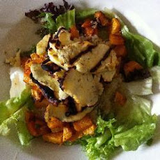 Butternut Squash And Halloumi Salad