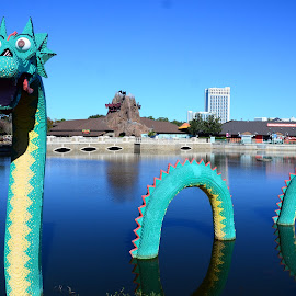 Legos Dragon by Lorraine D.  Heaney - Artistic Objects Toys