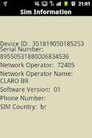 Screenshot of Sim Information!