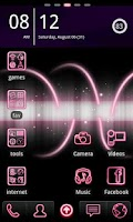 Screenshot of Pink Go Launcher EX Theme