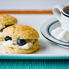 Lemon Maple Scones with Vegan Clotted Cream