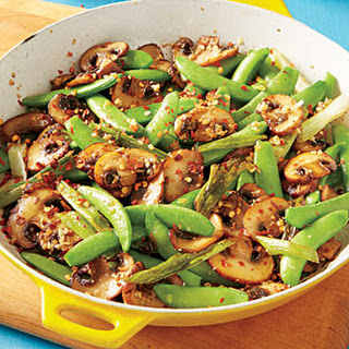 Sugar Snap Pea and Mushroom Sauté