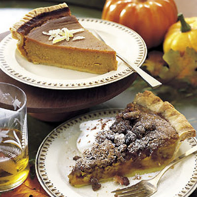 Pumpkin Pie with Spiced Walnut Streusel