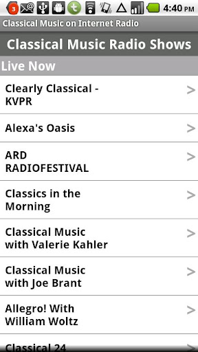 Classical Music Radio Shows