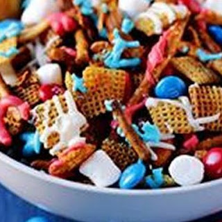 Red White & Blue Chex Mix