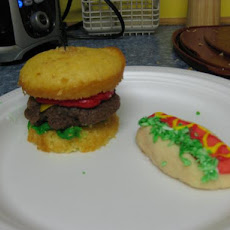 Hot Dog Cookies with Relish and Mustard
