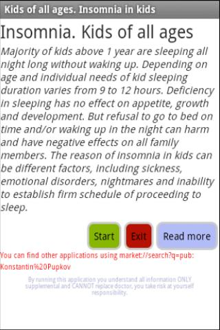 Insomnia. Kids of all ages