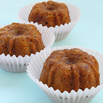 Caramel Mini Bundt Cakes