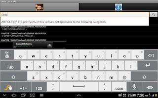 Screenshot of Labour Law of UAE