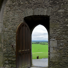 The Open Door by Holly Lent - Landscapes Travel ( ireland, door, ruins, rock of cashel,  )