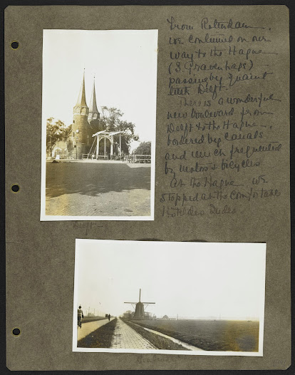 After stopping in Rotterdam to visit the Bojmans Museum, Miss Frick continued through Delft on the way to The Hague, where she stayed at Hotel des Indes, the same hotel the family visited in 1896.