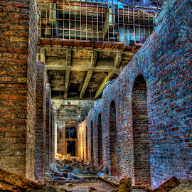 Remains of a factory (Χ) by Sergios Georgakopoulos - Buildings & Architecture Decaying & Abandoned ( old, building, hdr, litters, archs, factory, bricks, industry, wall, abandoned )