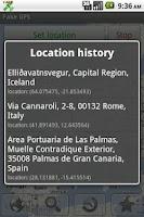 Screenshot of Fake GPS location