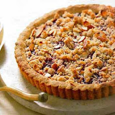Raspberry Jam Tart with Almond Crumble