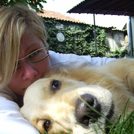 by Tanja Borovic Saso - Animals - Dogs Portraits ( playing, love, selfie, we, golden retriever )