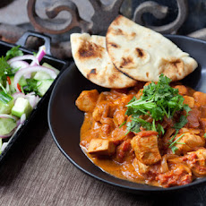 Chicken Tikka Masala with Minted Cucumber Salad & Naan