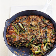 Mushroom and Scallion Frittata