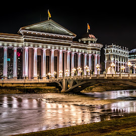 Tribute to past by Darko Maretić - Buildings & Architecture Public & Historical ( building, colorful, street, museum, people, nightscape, city, city scape, lights, history, arhitecture, streets, night, town, bridge, public, light, river,  )
