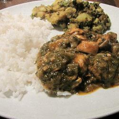 Chicken, Spinach And Mushroom Curry