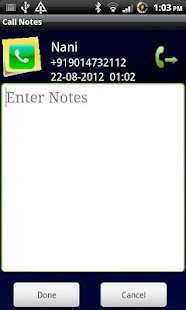 Call Notes - screenshot