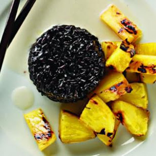 Grilled Pineapple with Coconut Black Sticky Rice