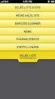 Screenshot of GELBE LISTE PHARMINDEX