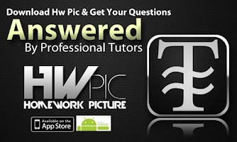 Screenshot of HwPic Homework Tutor