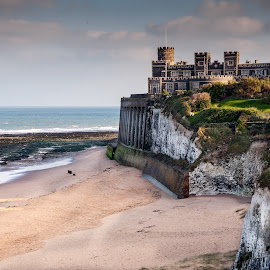 Kingsgate by Darrell Evans - Landscapes Beaches ( seafront, water, sand, cliff-face, cliff, outdoor, sea, beach, house, landscape )