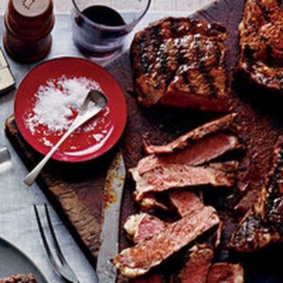Blackened Rib-Eye Steaks