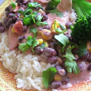 Crock-Pot Chicken With Black Beans & Cream Cheese
