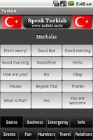 Screenshot of Speak Turkish