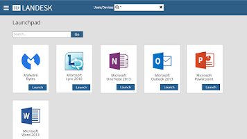 Screenshot of LANDESK Workspace