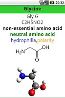 Screenshot of Amino Acids List