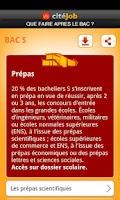 Screenshot of citéJob - Après le BAC ?