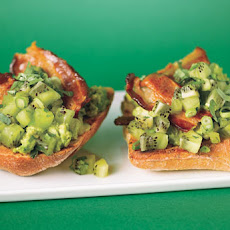 Avocado Toasties with Kiwi Salsa and Bacon
