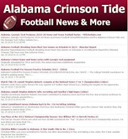 Screenshot of Alabama Football News
