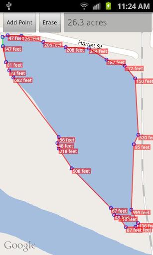 Area Measurement on google Map