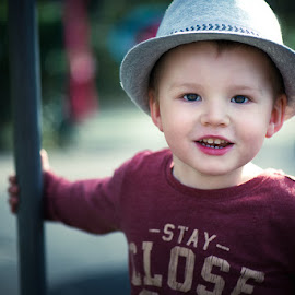 Boy by Nerijus Karmilcovas - Babies & Children Children Candids ( smile, boy, portrait, hat )