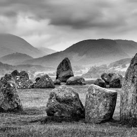 castlerigg by Alan Ranger - Landscapes Mountains & Hills ( algenon, castlerigg stone cricle, photography tuition, cumbria, black and white, photography workshops, landscape workshops, keswick, alan ranger, lake district, castlerigg, info@alanranger.com, photography classes, digital photography lessons, photography courses, landscape photography, online-mentoring, www.alanranger.com, alan ranger photography, private photography tuition )
