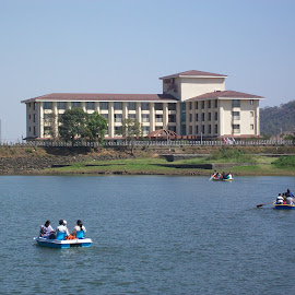 BEAUTIFUL BUILDING by Sandip Bagul - Buildings & Architecture Office Buildings & Hotels ( water, hill, building )