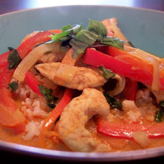 Red Curry Chicken With Basil
