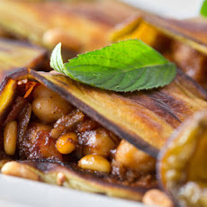 Roasted Eggplant With Spiced Chickpeas (Moussaq'a)